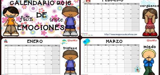 Calendario 2016 trabajamos las emociones PORTADA