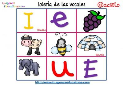 Lotería Bingo de las vocales (10)