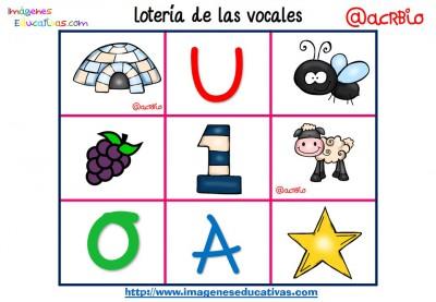 Lotería Bingo de las vocales (7)
