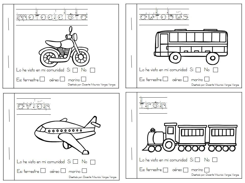 Mi libro de colorear de medios de transporte (2) - Imagenes Educativas