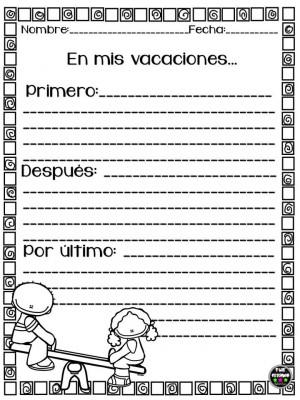 Mini cuadernillo Mis Vacaciones (2)