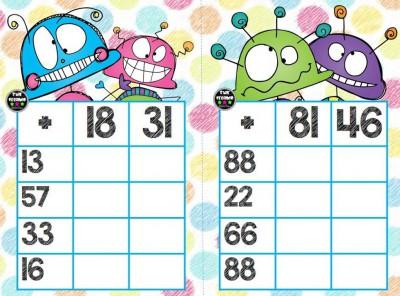Súper bingos de sumas (6)