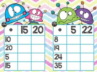 Súper bingos de sumas (7)