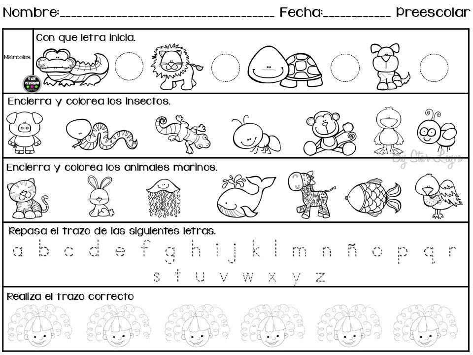 Actividades Para Colorear En Preescolar Dibujos Para Colorear