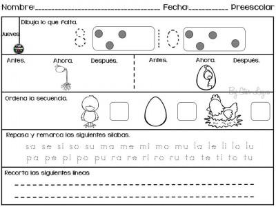 Semanario de actividades para preescolar actividades de refuerzo (4)