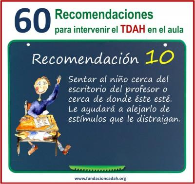 60 recomendaciones para intervenir el TDAH en el aula (10)