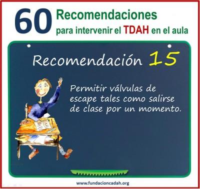 60 recomendaciones para intervenir el TDAH en el aula (15)
