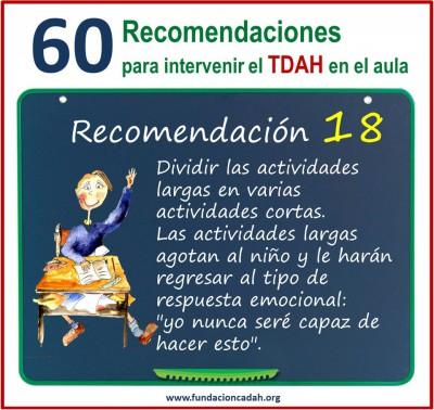 60 recomendaciones para intervenir el TDAH en el aula (18)