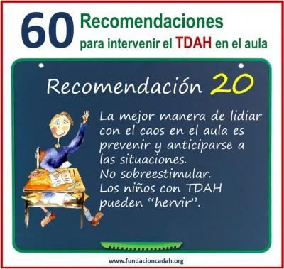 60 recomendaciones para intervenir el TDAH en el aula (20)