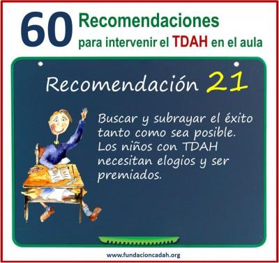 60 recomendaciones para intervenir el TDAH en el aula (21)