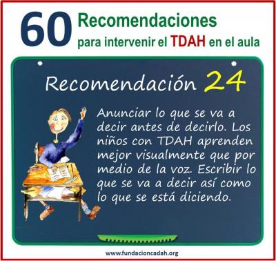 60 recomendaciones para intervenir el TDAH en el aula (24)
