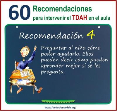 60 recomendaciones para intervenir el TDAH en el aula (4)