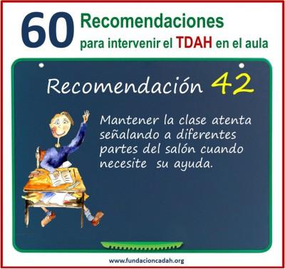 60 recomendaciones para intervenir el TDAH en el aula (42)