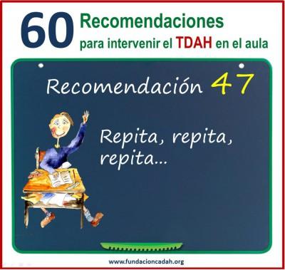 60 recomendaciones para intervenir el TDAH en el aula (47)