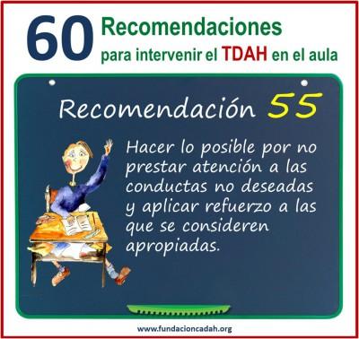 60 recomendaciones para intervenir el TDAH en el aula (55)