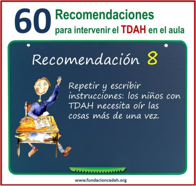 60 recomendaciones para intervenir el TDAH en el aula (8)