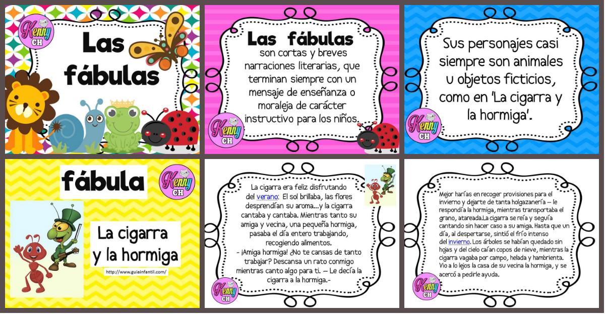 Las Fábulas Portada Imagenes Educativas
