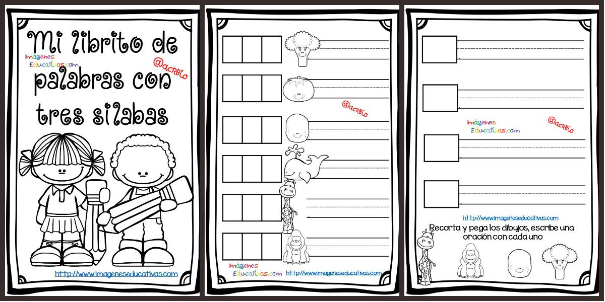 Silaba Dibujo: Dibujos Con La Silaba Mi: Mi Librito De Palabras Tres