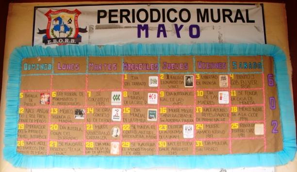 Peri dico mural mayo mes de las madres 27 imagenes for Componentes de un periodico mural
