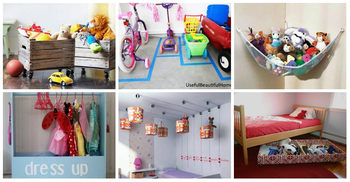 Ideas originales sencillas y muy econ micas para guardar juguetes imagenes educativas - Almacenaje juguetes ninos ...
