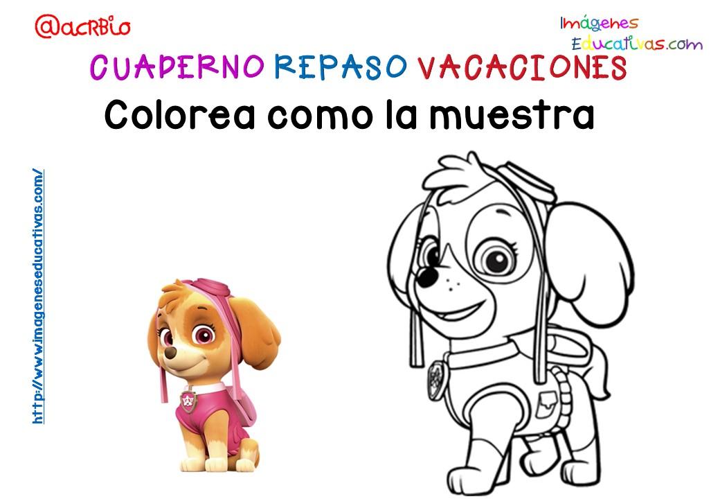Cuderno de repaso para vacaciones Patrulla Canina (10) - Imagenes ...