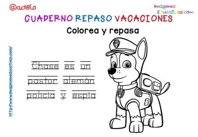 Cuderno de repaso para vacaciones Patrulla Canina (15)
