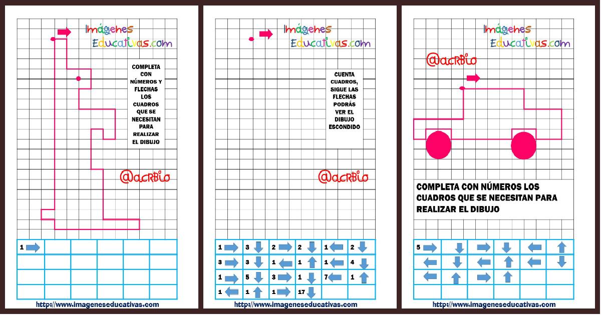 Dibujos Con Cuadros.Atencion Dibujamos En Cuadricula Contando Cuadros Y Siguiendo