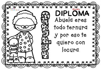 Diplomas para colorear del día de las madres. 10 de Mayo (4)