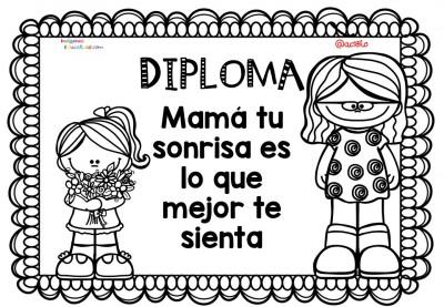 Diplomas para colorear del día de las madres. 10 de Mayo (5)