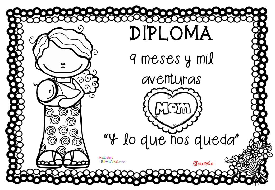 Dibujos Para Colorear Del Dia De Las Madres: Diplomas Para Colorear Del Día De Las Madres. 10 De Mayo
