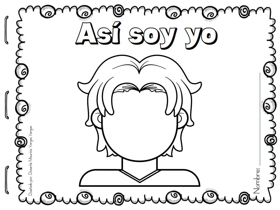 Yo Para Colorear: ASÍ SOY YO Identidad Personal (5)