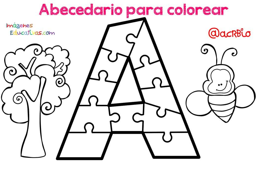 Abecedario para colorear (1) - Imagenes Educativas