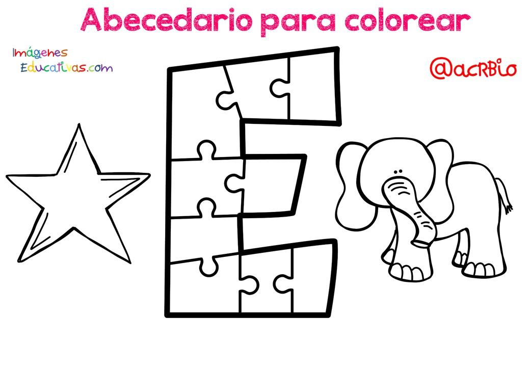 Abecedario para colorear (5) - Imagenes Educativas