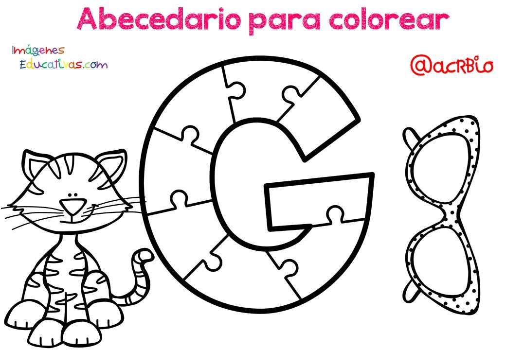 Alfabeto Para Colorear: Abecedario Para Colorear (7)