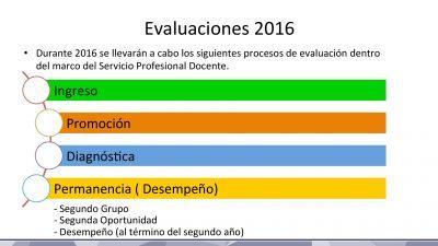 Calendario de Evaluaciones SEP INEE 2016 (2)