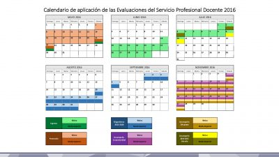 Calendario de Evaluaciones SEP INEE 2016 (3)