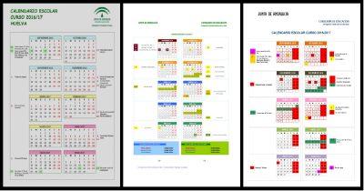 Calendario escolares 2016-2017  PORTADA