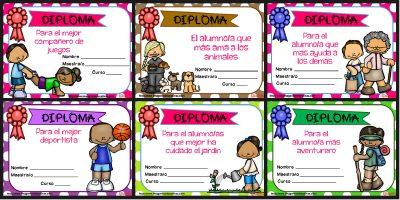Diplomas FIN DE CURSO para premiar actitud y las capacidades PORTADA