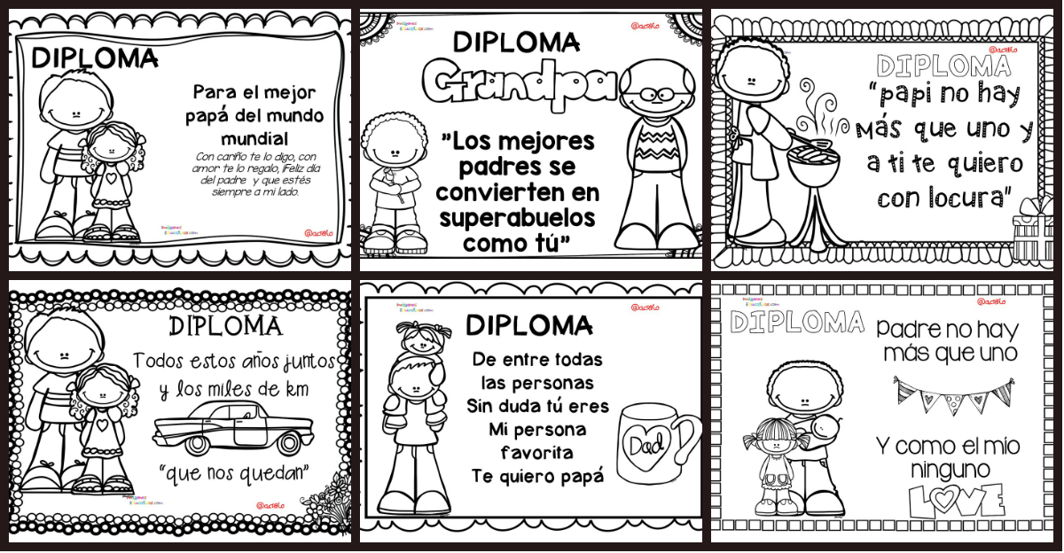 Diplomas da del Padre PORTADA  Imagenes Educativas