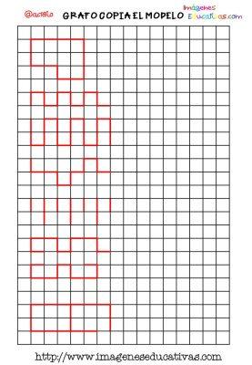 Grafomotricidad en pauta de cuadritos (7)