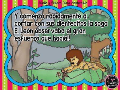 EL LEON Y EL RATON FABULA (10)