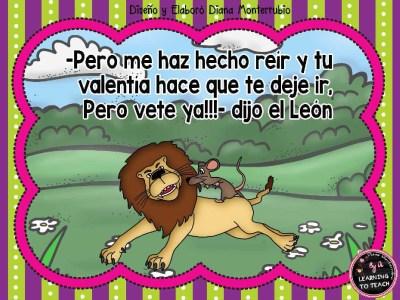 EL LEON Y EL RATON FABULA (7)