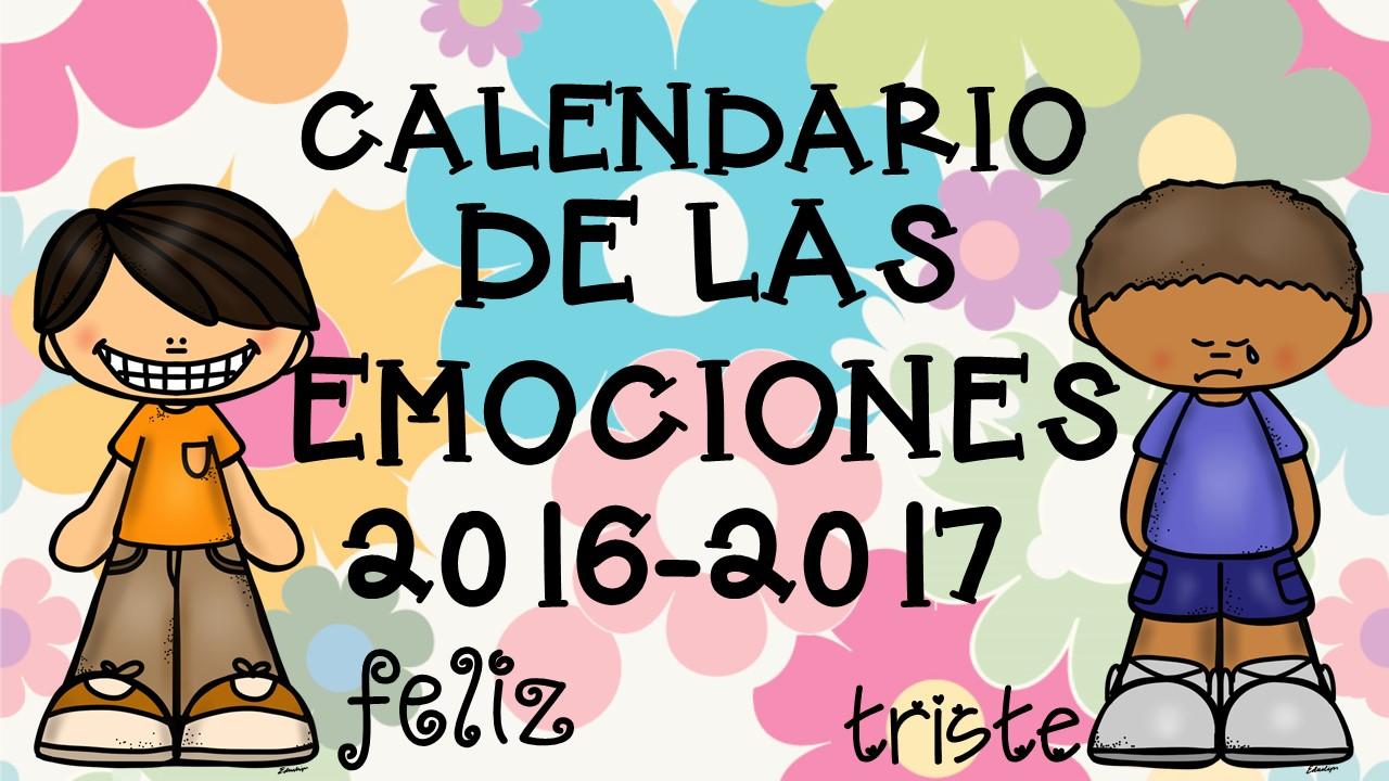 Imagenes Educativas Para Descargar: Calendario 2017 Para Trabajar Las Emociones- (1