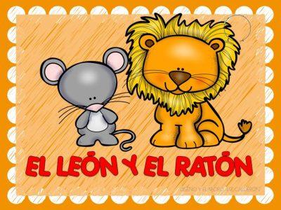 Fábula  el león y el ratón (1)