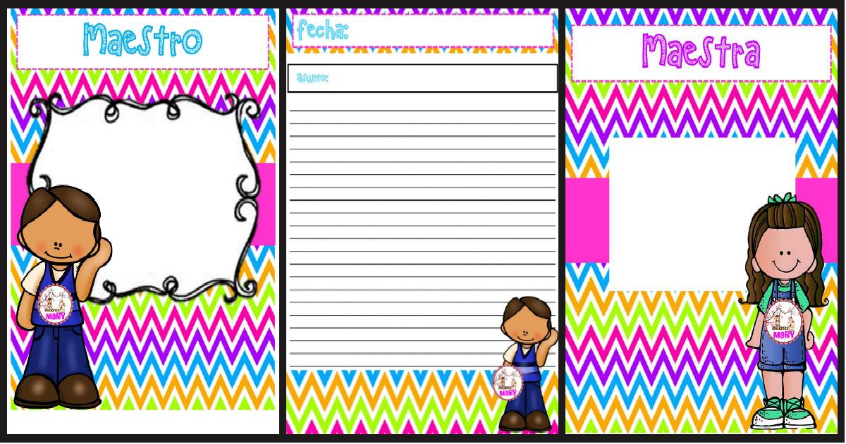 Libreta de registros para maestros y maestras - Imagenes Educativas