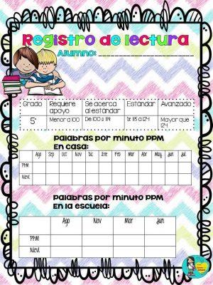 Registros de lectura para Primaria (12)