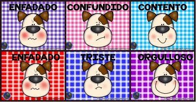 Tarjetas emociones perritos modelo PORTADA
