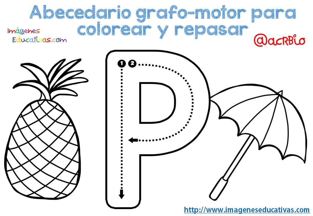 Fichas Del Abecedario Para Colorear Niños De Infantil Y: Abecedario-grafo-motor-para-colorear-y-repasar-17