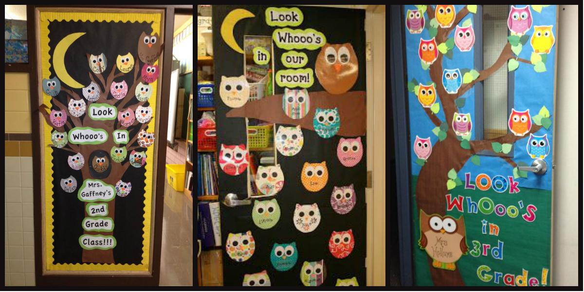 Puertas de clase y decoraciones con b hos imagenes Decoracion de espacios de preescolar