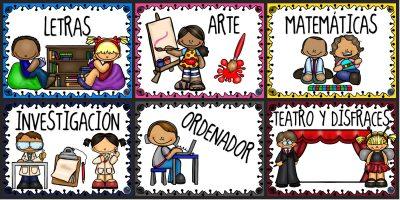 Rincones Educación Infantil PORTADA